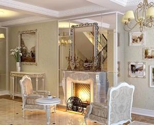 Классическая гостиная, исполненная в дворцовом стиле