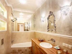 Декоративная штукатурка в дизайне ванной